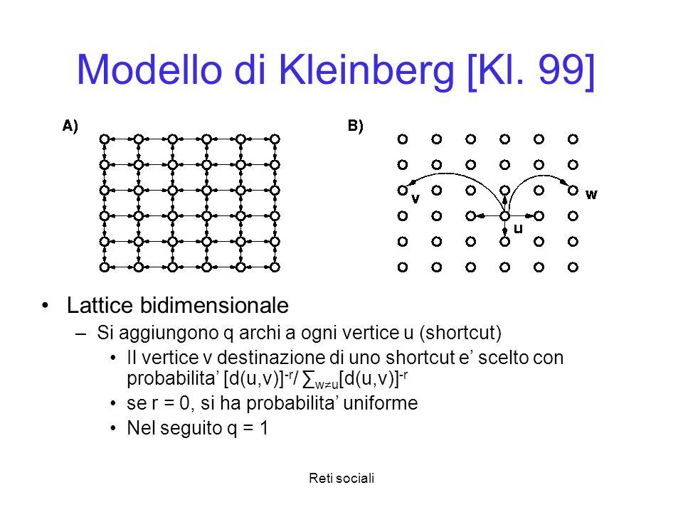 Modello di Kleinberg [Kl. 99]